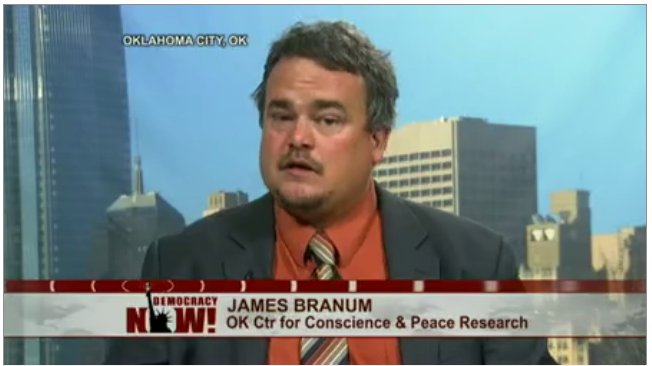 James M. Branum on Democracy Now, June 4 2014