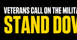 Veterans for Peace: troops stand down